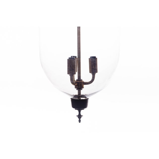 Late 20th Century Vintage Glass Bell Jar Pendant Light For Sale - Image 5 of 8