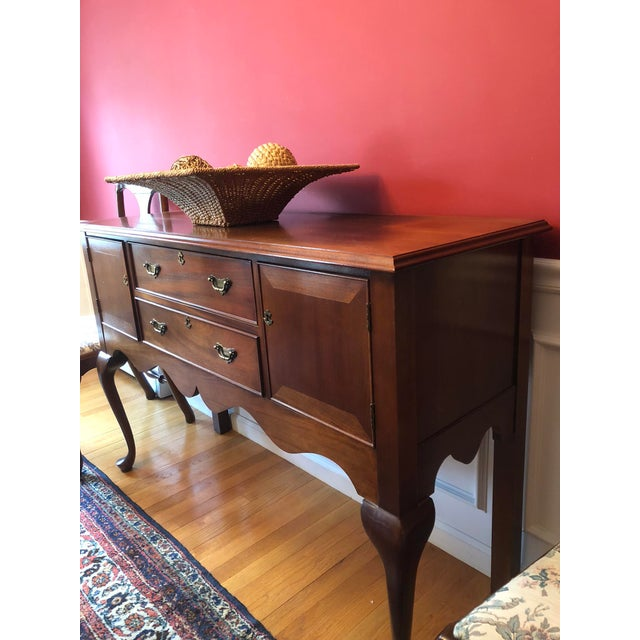 "Solid Mahogany buffet server made by Craftique, who specialized in heirloom quality authentic reproductions. Buffet is 36""..."