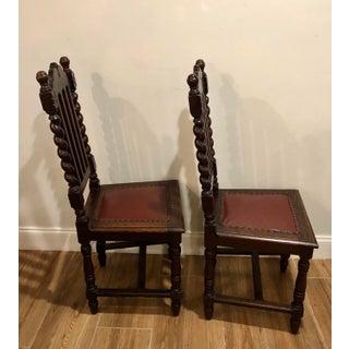 1920s Antique Gothic Barley Twist Renaissance Revival Chairs- a Pair Preview