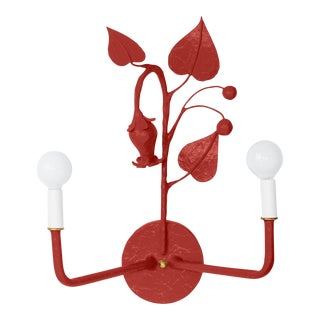 Stray Dog Designs for Chairish Efrain Sconce, Deep Red For Sale
