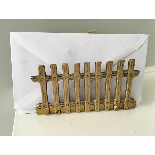 1960s 1960s Vintage Solid Brass Hen Letter/Napkin Holder For Sale - Image 5 of 12