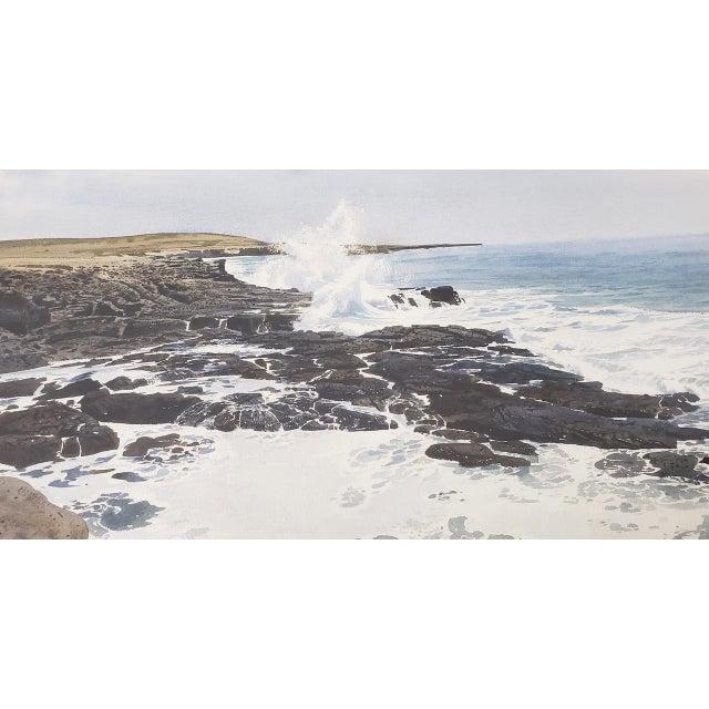Impressionism Merv Corning (1926-2006) Rocky Coastal Landscape Watercolor For Sale - Image 3 of 9