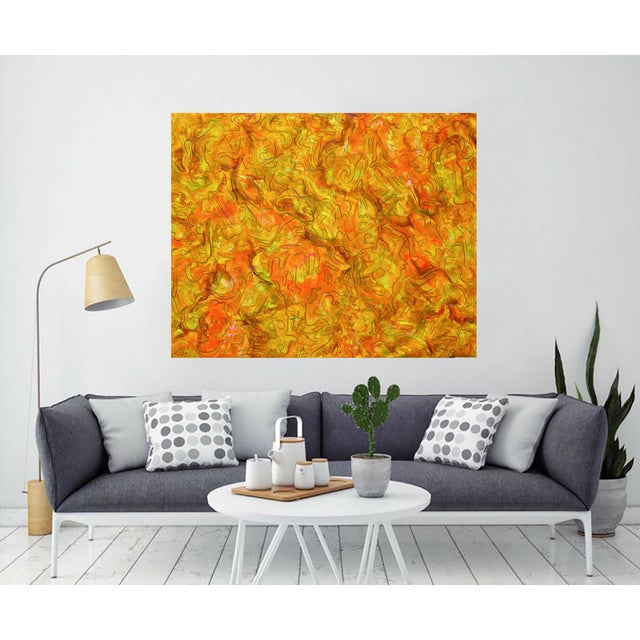 """""""Inside Amber"""" Large Abstract Painting by Trixie Pitts - Image 2 of 4"""