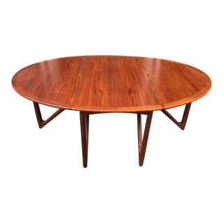 "Kurt Ostervig ""Eva"" Drop Leaf Teak Table by Jason Mobelfabrik For Sale"