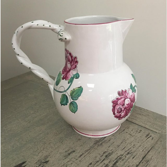 Green Vintage Tiffany & Co Strasbourg Flowers Pitcher and Plates Set - 5 Pieces For Sale - Image 8 of 10