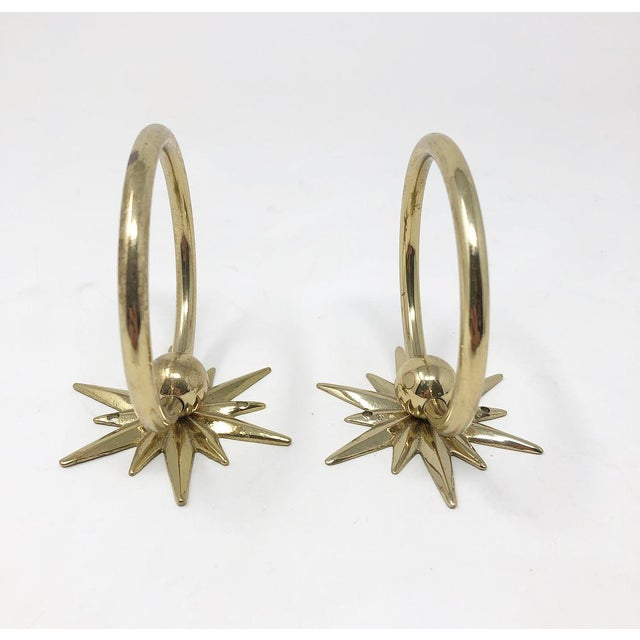 1960s Mid-Century Starburst Hardware - a Pair For Sale - Image 5 of 10