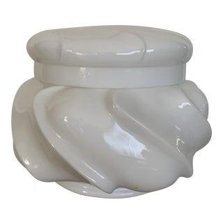 1940s Milk Glass Lidded Jar For Sale
