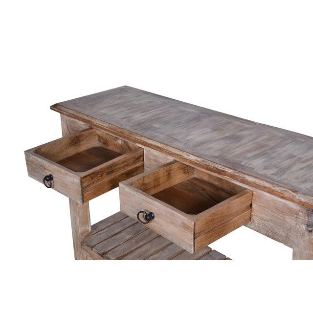Whitewashed Mango Wood Console Table Chairish