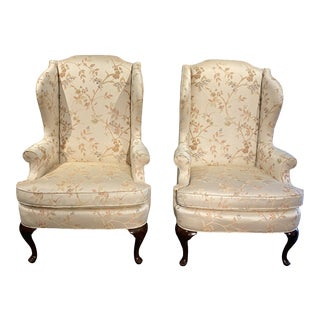 1940s Vintage Wingback Chairs - a Pair For Sale