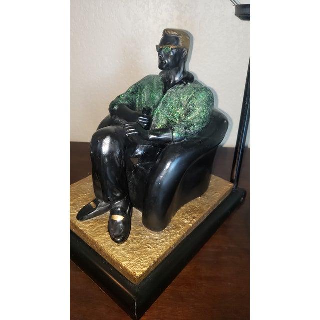 Sculpture Materials 1980's Reto Figurative Pop Culture Table Lamp For Sale - Image 7 of 13