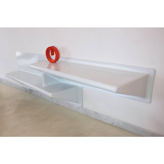 20th Century Vintage Fiberglass Hanging Console or Desk by Knoll, 1970s For Sale - Image 9 of 13