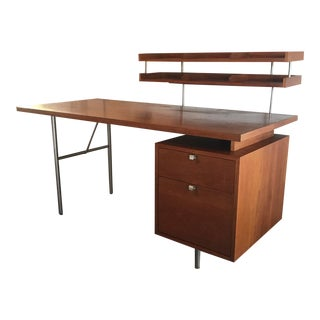 George Nelson Herman Miller Home Office Desk With Paper Tray For Sale
