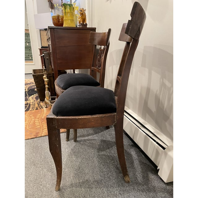 Early 19th Century Early 19th Century Antique Side Chairs - a Pair For Sale - Image 5 of 8