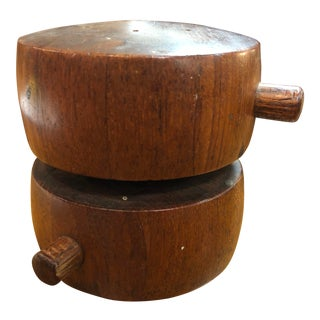 1960s Vintage Dansk Mid-Century Modern Teak Salt and Pepper Mill For Sale