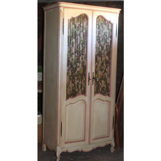 1970s 1970s Vintage French Provencial Style Armoire For Sale - Image 5 of 5