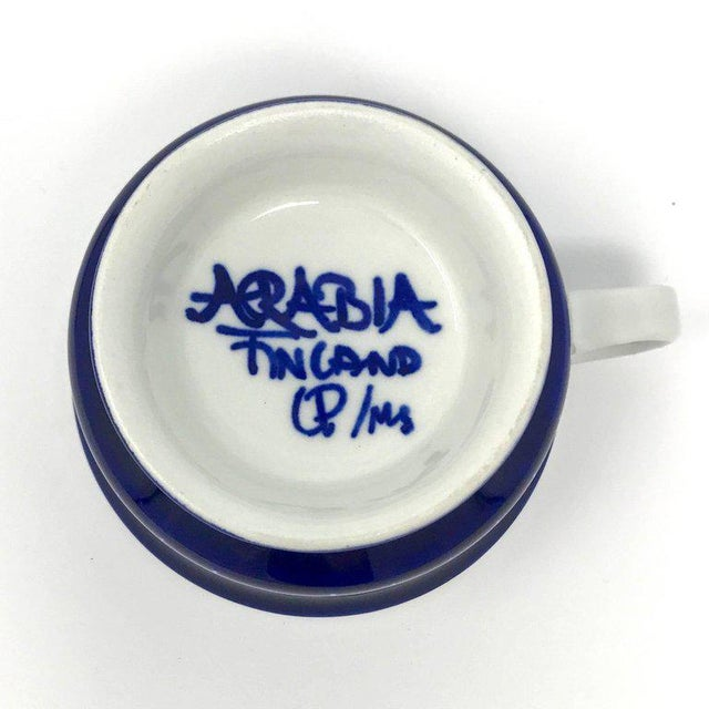 1960s Scandinavian Modern Ulla Procope for Arabia of Finland Valencia Cup and Saucer - 2 Pieces For Sale - Image 11 of 13