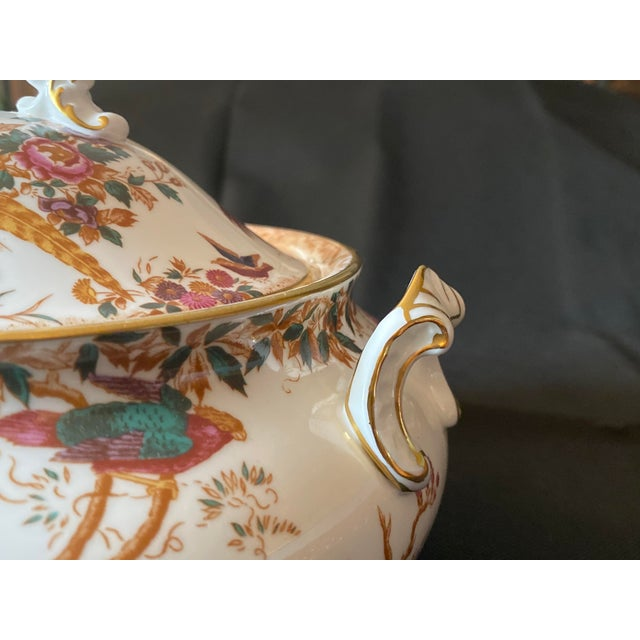 Royal Crown Derby Porcelain 1970s Crown Derby Covered Soup Tureen For Sale - Image 4 of 10