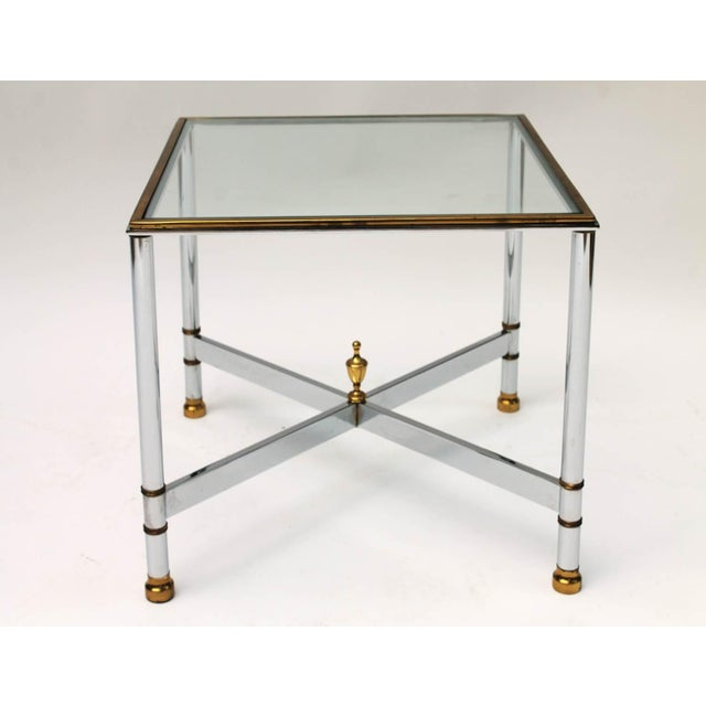 Petite Brass & Steel Side Table - Image 3 of 8