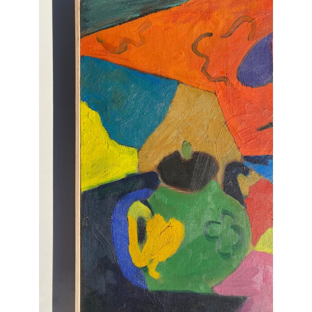 French Matisse Style Mid-Century Expressionist Oil on Canvas Painting For Sale - Image 3 of 8