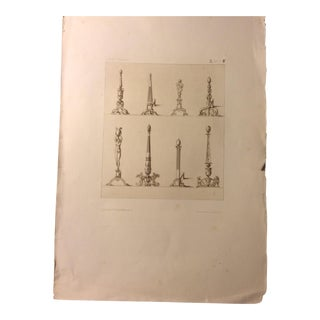 Antique French Andiron Bookplate Print