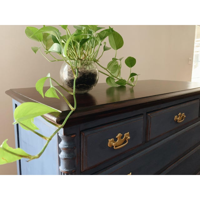1960s Traditional Navy Dresser For Sale - Image 11 of 13