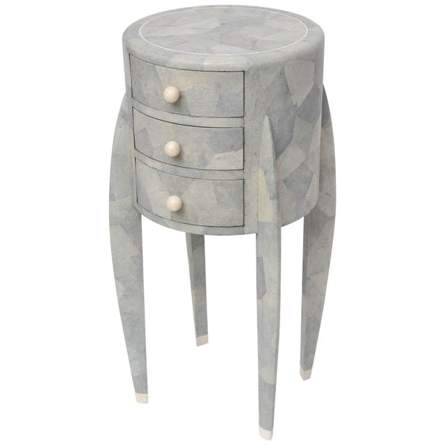 Diminutive Patchwork Shagreen Chest of Drawers by Maitland-Smith For Sale - Image 11 of 11