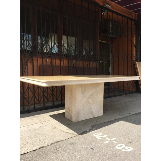 Italian 1960s Italian Travertine Dining Table For Sale - Image 3 of 13