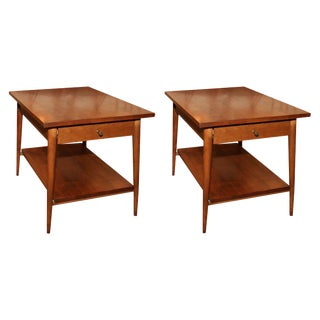 Paul McCobb Single Drawer Lamp Tables - a Pair For Sale
