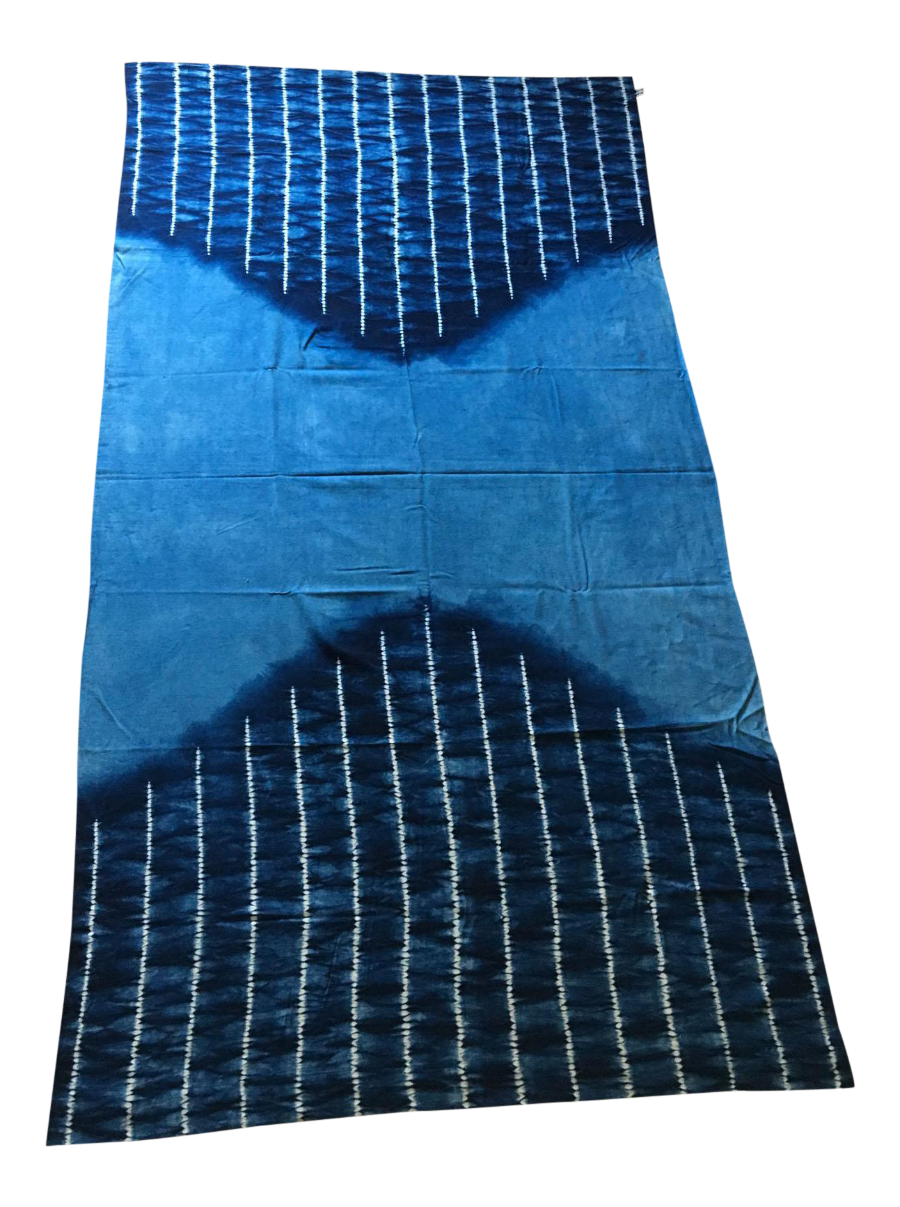 Large Japanese Indigo Shibori Tablecloth, Throw Blanket Or Wall Hanging    Image 1 Of 4