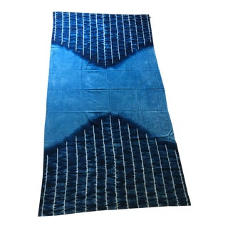 Moving Sale - Make an Offer Everything Has Got to Go - Large Japanese Indigo Shibori Tablecloth, Throw Blanket or Wall Hanging
