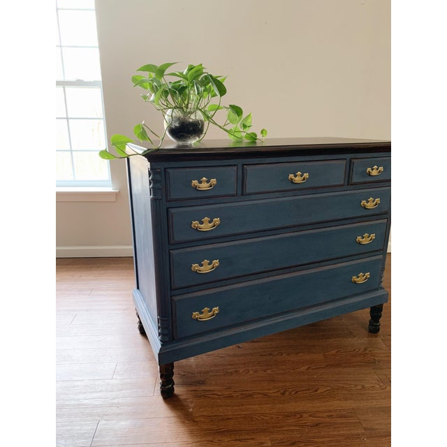 1960s Traditional Navy Dresser For Sale - Image 10 of 13