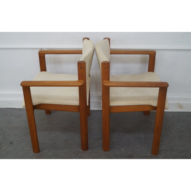 Danish Modern Danish Modern Teak Arm Chairs - Pair For Sale - Image 3 of 9