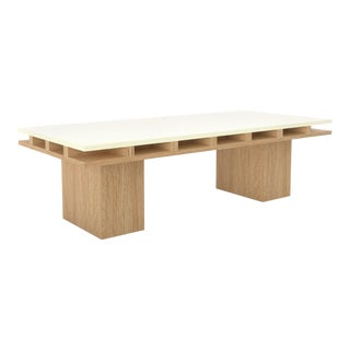 Contemporary 101 Coffee Table in Oak and White by Orphan Work, 2019 For Sale