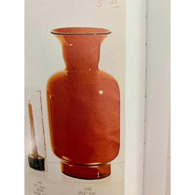 Contemporary Blenko Tangerine Orange Floor Vase Scarce Oversized - # 7048 For Sale - Image 3 of 13