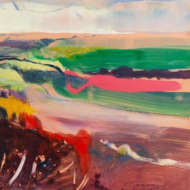 John Maxon Evening Landscape Circa 1985 For Sale - Image 4 of 9