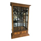 Image of Drexel Heritage Large Illuminated Display Cabinet For Sale