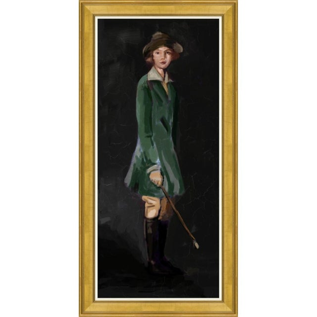 This is a reproduction of a portrait painted by an itinerant painter in the early 1900s. It is printed on canvas,...