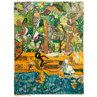 Dreams of Exile (Green Snake) by Romare Bearden For Sale