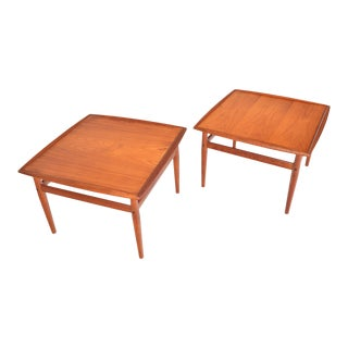Grete Jalk for Glostrup Teak Side Tables - a Pair For Sale