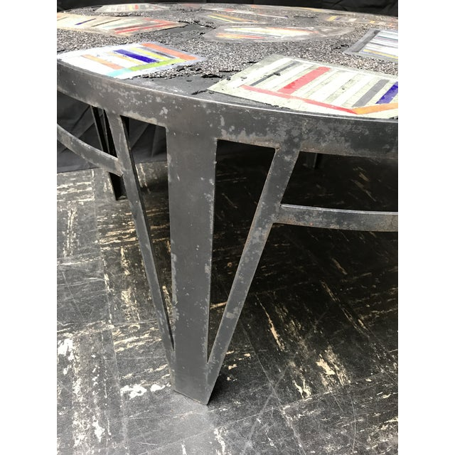 Handmade Steel and Concrete Table - Image 3 of 13