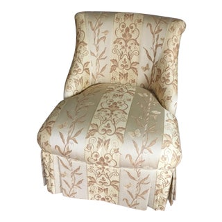 Custom Skirted Slipper Chair by Pearson For Sale