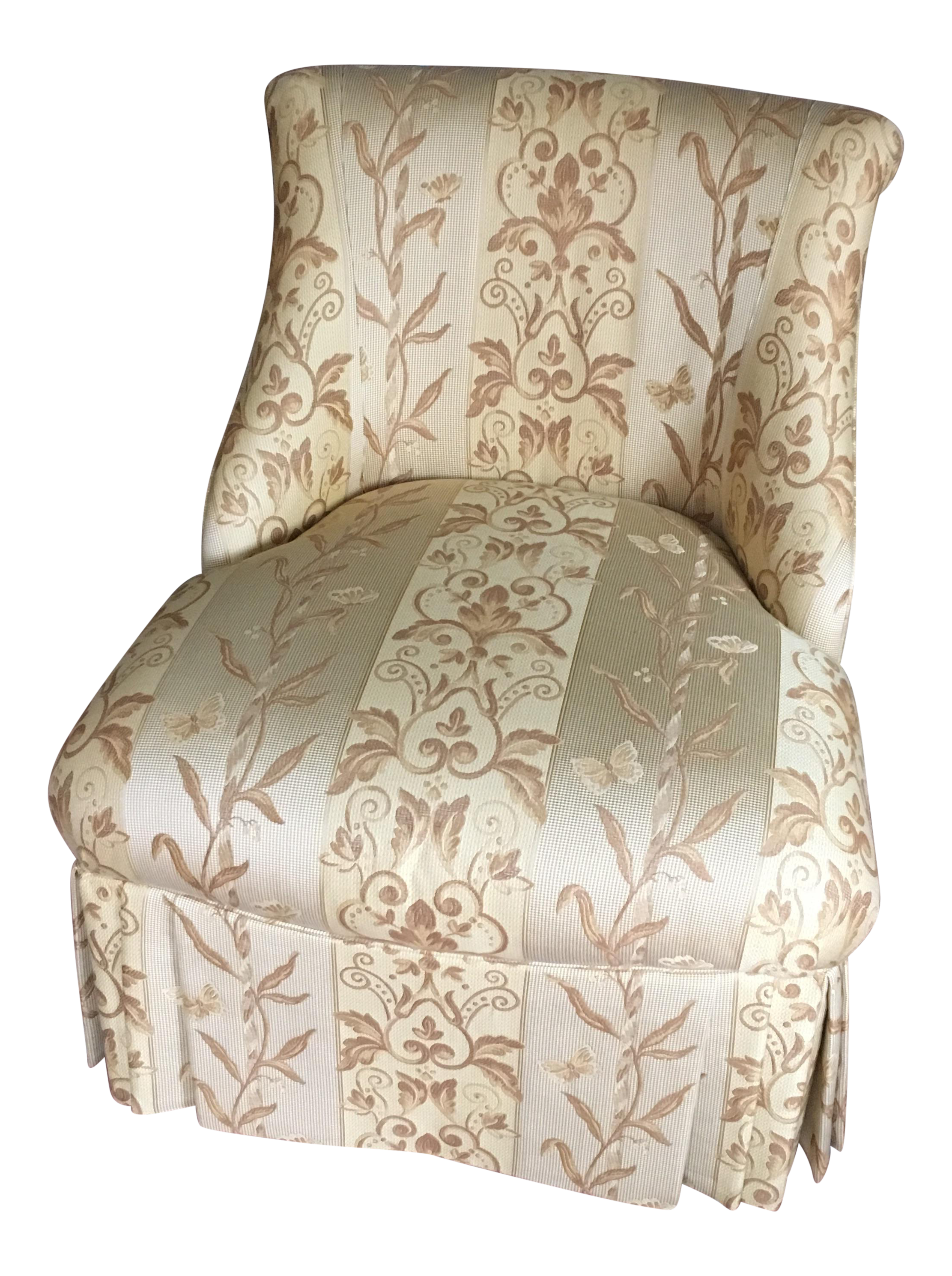 Custom Skirted Slipper Chair By Pearson   Image 1 Of 13