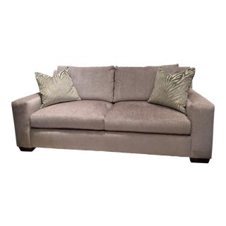 Massoud Textured Velvet Sofa For Sale