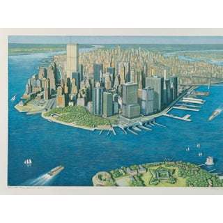 Richard Haas Manhattan View Governor's Island For Sale