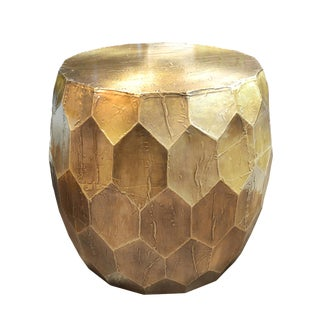 Brass Honeycomb Side Table