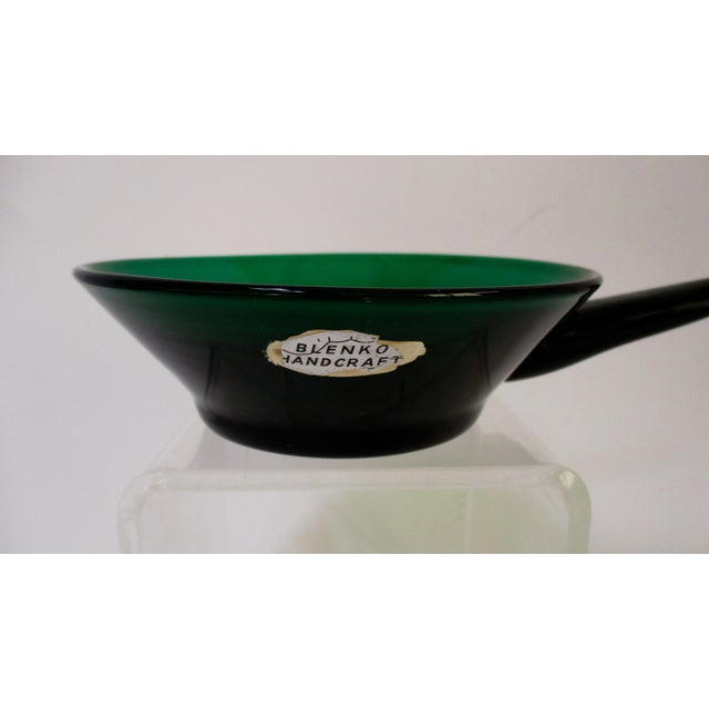 Winslow Anderson Blenko Green Art Glass Dish - Image 3 of 9
