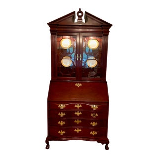 20th Century Chippendale Jasper Secretary Desk For Sale