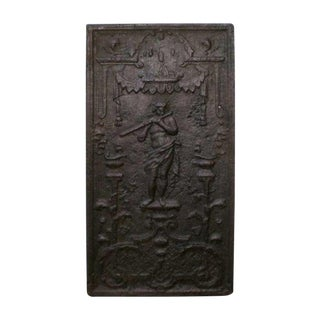 18th Century French Louis XIV Cast Iron Fireback For Sale