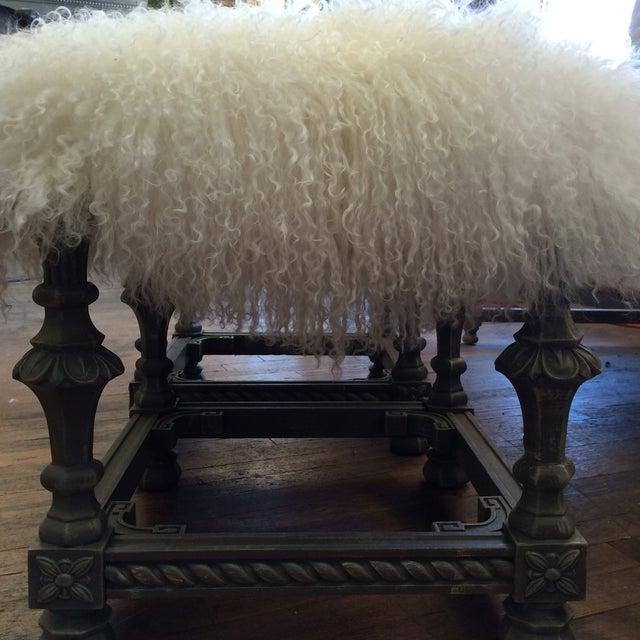 Angora Pelt Footstools - Pair - Image 3 of 6