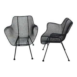 Vintage Mid Century Russel Woodard Sculptura Chairs- A Pair For Sale